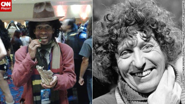 Matthew Brewer of Fairburn, Georgia, portrays the Fourth Doctor.