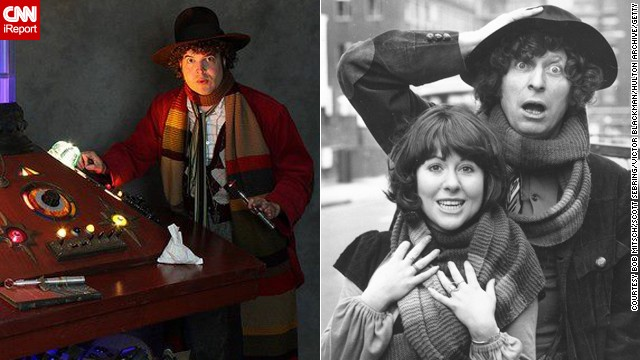 "Bob Mitsch of Pasadena, California, can often be seen at fan conventions portraying the Fourth Doctor. Tom Baker is quite popular, having played the Doctor longer than anyone. ""He'll always be the one, the only and the definitive to me despite discovering and appreciating other Doctors over the years."""