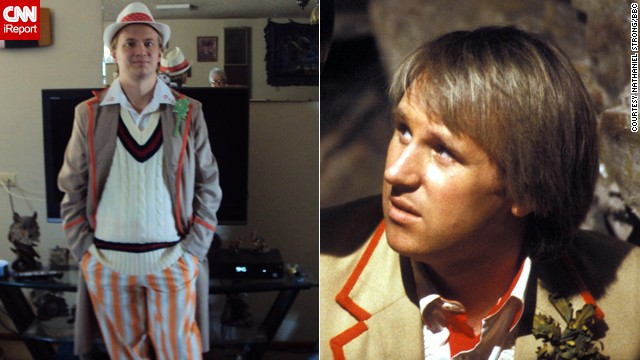 "Nathaniel Strong, here cosplaying Peter Davison's Fifth Doctor, said his life has not been the same since discovering ""Doctor Who"" a few years ago. The lesson he takes away from it is, ""Even if you think little of yourself you can make a world of a difference."""