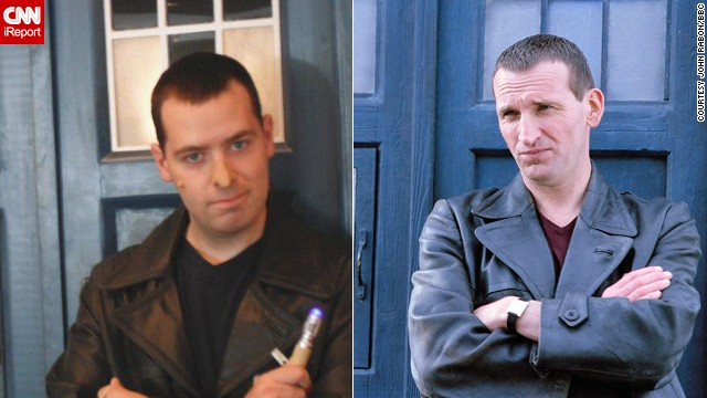 John Rabon of Easley, South Carolina, cosplays the Ninth Doctor.