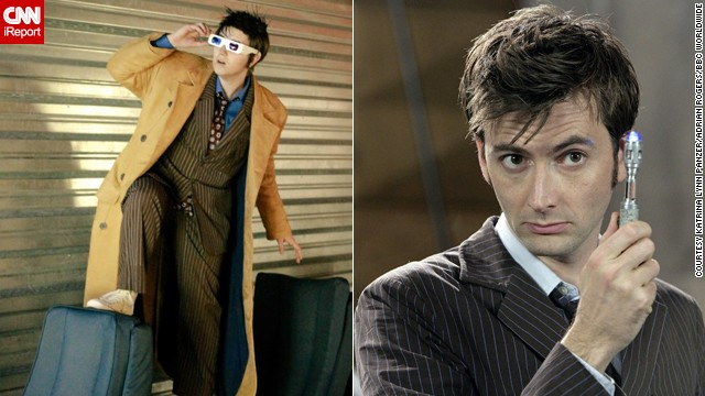 "David Tennant is a favorite of new ""Doctor Who"" fans, and <a href='http://ireport.cnn.com/docs/DOC-1056629'>Katrina Lynn Panzer</a> has made something of a reputation playing him. He ""reminded me of myself. I quickly realized it wasn't just his enthusiasm or his tendency to use furniture in unconventional ways. He also had the anxiety and mood swings I've experienced most of my life."""