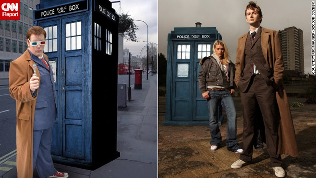 Ric Mauger of Hawthorn, Australia, as the Tenth Doctor.