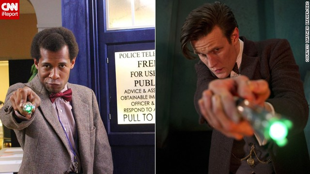 "The current Doctor, the Eleventh portrayed by Matt Smith, is a favorite of <a href='http://ireport.cnn.com/docs/DOC-1061282'>Matthew Brewer</a>. ""The one from the new series is the one I actually followed from his beginning: the raggedy, bow-tied, tweedy, floppy-haired, childlike, fish finger and custard loving, fez wearing, very curious ... Eleventh Doctor. Since his start in 2010, I really followed his run down to the letter, I even have three Eleventh sonic screwdrivers."""