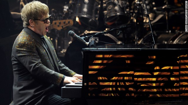 "John performs during the first night of his Las Vegas show, ""The Million Dollar Piano,"" in 2011. It kicked off a three-year residency at Caesars Palace."