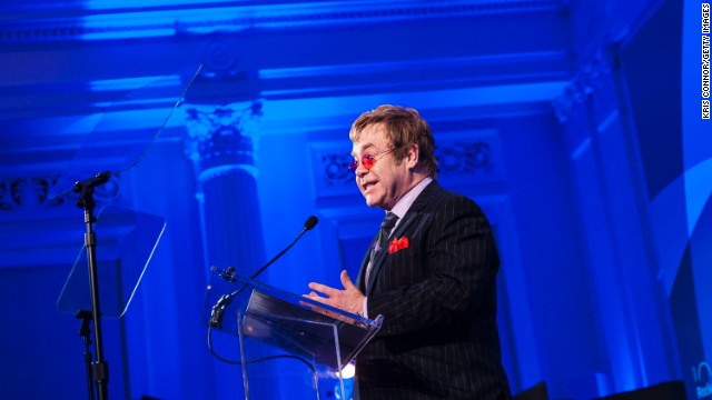 "John speaks after receiving the Lifetime Achievement Award during the Rockefeller Foundation's ""Celebration of American Philanthropy"" event in October."