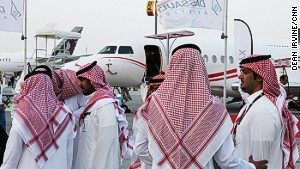 Sheikhs on a plane
