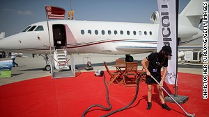 Rolling out the red carpet: Private jet companies give their clients the real royal treatment.