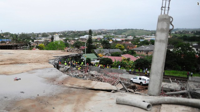 South African building collapse