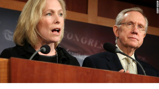 Reid backs Gillibrand on military sexual assault bill
