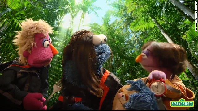 Sesame Street spoofs 'Catching Fire'