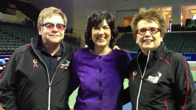 Elton John and Billie Jean King: 40 years of friendship, philanthropy, activism