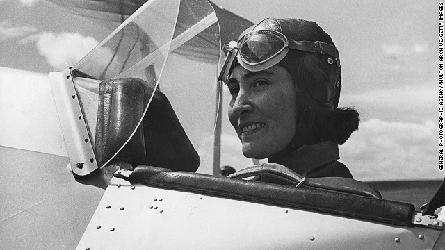 Female aviation history in the region extends as far back as the '30s. <!-- --> </br>Pilot Sahavet Yslamazturk (pictured) was one of a small group of Turkish women aviators trained at the Turkkusu ('Turkishbird') Flight School
