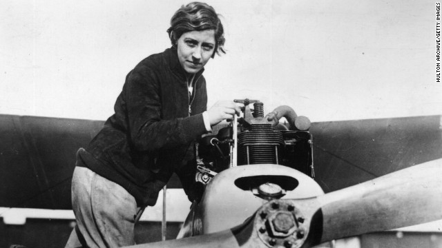 British aviator Amy Johnson was well known for her daredevil antics. At the age of 26, she was the first female pilot to fly alone from Britain to Australia