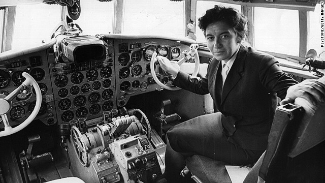 Bulgarian pilot Maria Atanossova was the first woman to pilot a commercial flight into the UK