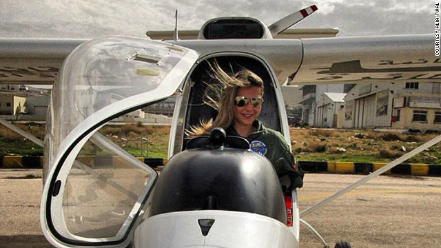 At the age of 21, Twal became a flight instructor, and now holds the position of governor of the Arabian chapter of The Ninety-Nines, the International Organization of Women Pilots, which, alas, only has 36 members