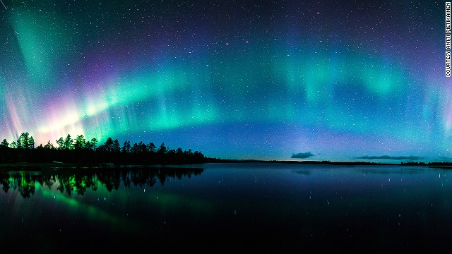 The top aurora photographer and guide Antti Pietikainen bases himself around these two Finnish towns because the Northern Lights viewing is so good.