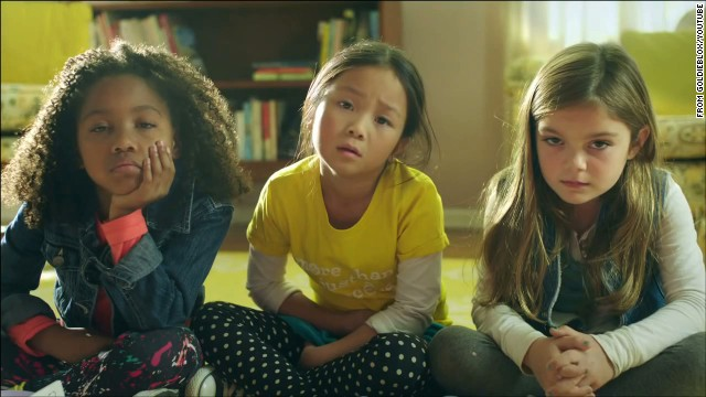The ad features 3 girls creating a