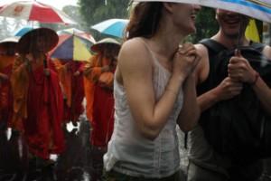Ni siquiera la lluvia puede deteriorar tu humor