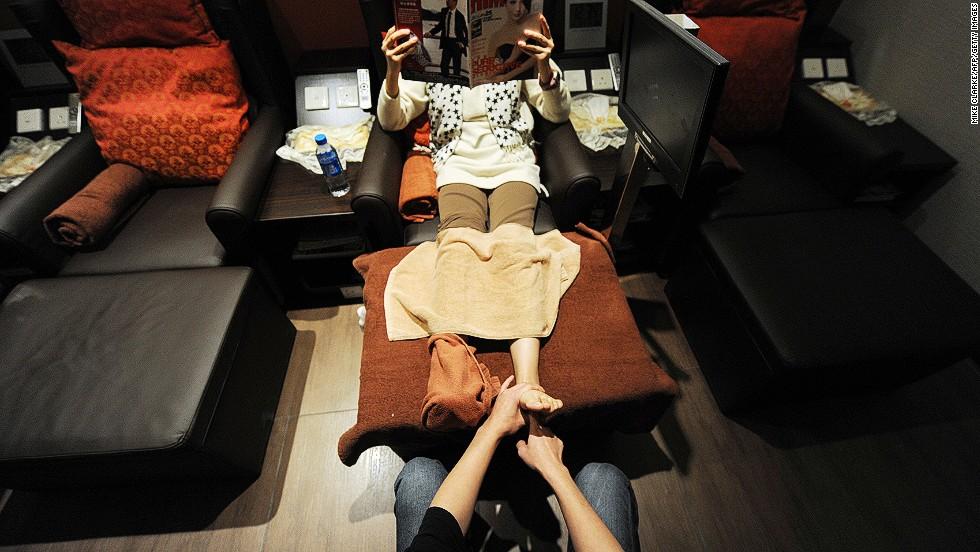 Masajes de pies interminables