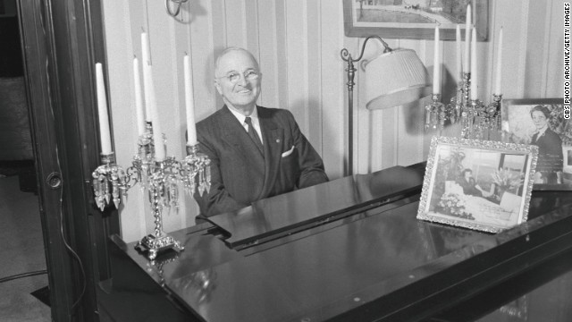 Harry S. Trumam always loved to play the piano. His mother was his first piano teacher.