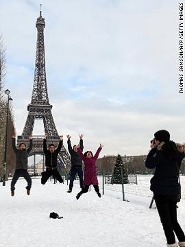 It might take 50 shots to capture the perfect moment in the air, but jumping shots are a tourist's right, as is holding up the Tower of Pisa and a fingertip on the Eiffel Tower.