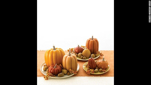 Pumpkin candles: <a href='http://www.marthastewart.com/271234/candles-take-shape-for-the-holidays?xsc=synd_cnn' target='_blank'>Make your own</a> pumpkin-shaped candles.