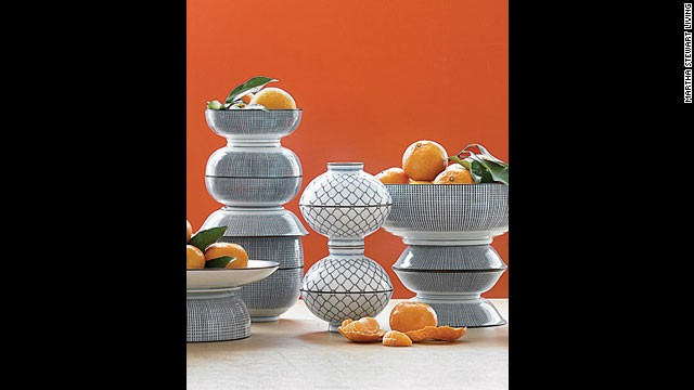 Wilt-proof: Use ceramics for a centerpiece with staying power.