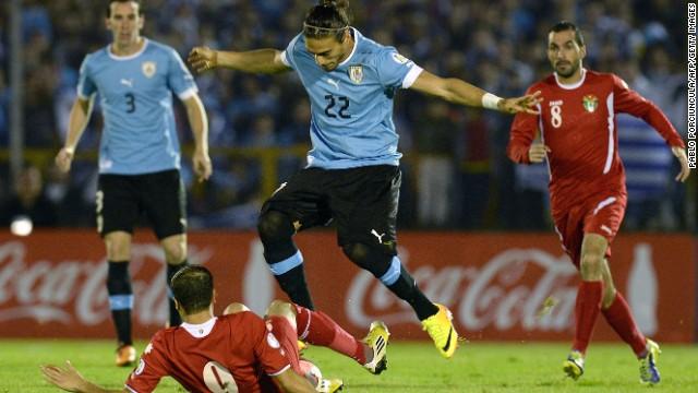 Uruguay empata 0-0 con Jordania y clasifica a Brasil 2014