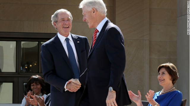 Former Presidents Clinton and Bush to launch new initiative