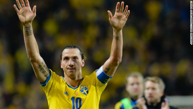 "Sweden's forward Zlatan Ibrahimovic will have to watch the tournament at home -- that's if he's even interested. He told reporters: ""A World Cup without me is nothing to watch so it is not worthwhile to wait for the World Cup."""
