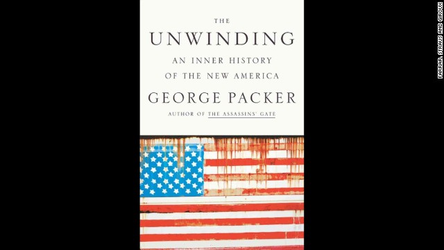 "<strong>Nonfiction (winner):</strong> George Packer, ""<a href='http://www.nationalbook.org/nba2013_nf_packer.html#.Uo16rI2vWL0' target='_blank'>The Unwinding: An Inner History of the New America</a>"""