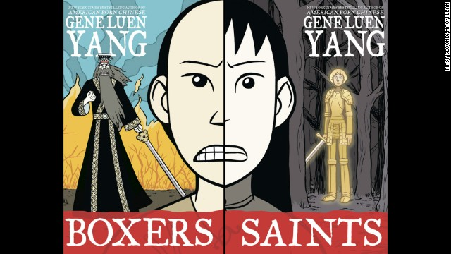 "<strong>Young people's literature: </strong>Gene Luen Yang, ""<a href='http://www.nationalbook.org/nba2013_ypl_luenyang.html#.Uo2CS42vWL0' target='_blank'>Boxers & Saints</a>"""