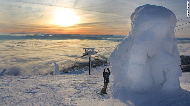 One of the most popular spots at Whitefish Mountain Resort is the summit. From here, the views of the jagged peaks of Glacier National Park are breathtaking, but it's the snow-covered trees -- known locally as snow ghosts -- that really stand out. <strong>More: </strong><strong><a href='http://edition.cnn.com/2012/12/12/travel/ski-hotels-united-states/index.html?hpt=tr_c1'>7 swanky U.S. ski hotels</a></strong>