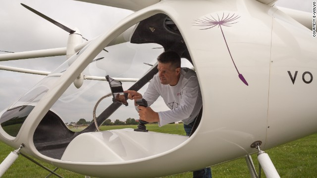 """If you let the joystick go, the Volocopter will just hover in the current position, so there's nothing the pilot has to do,"" said e-volo co-chief executive Stephan Wolf. ""But if you do that in another helicopter it will crash immediately."""