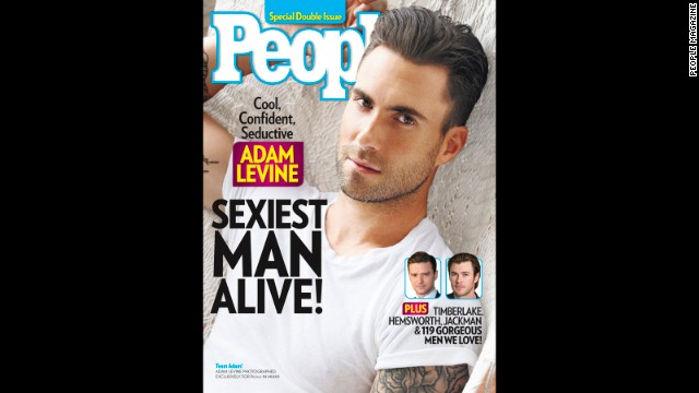 Adam Levine thanks parents for sexy status
