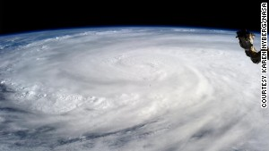 Astronaut captures typhoon from space