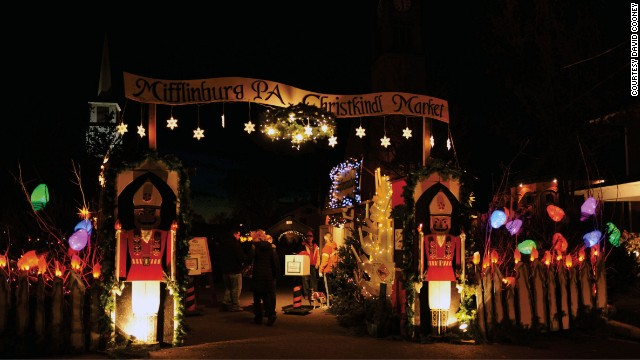 With a population of fewer than 4,000, the central Pennsylvania town of Mifflinburg is one of the smallest to mount its own authentic Christmas market.