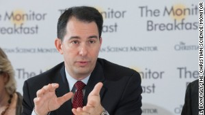 Wisconsin Gov. Scott Walker says the Republican message should be \