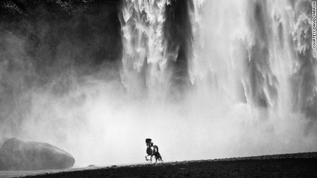 """Skógafoss is arguably the most aesthetically perfect waterfall in Europe,"" says Yarrow, adding that this dreamlike image of a wild pony in front of the enormous waterfall transcended all others from his trip there."
