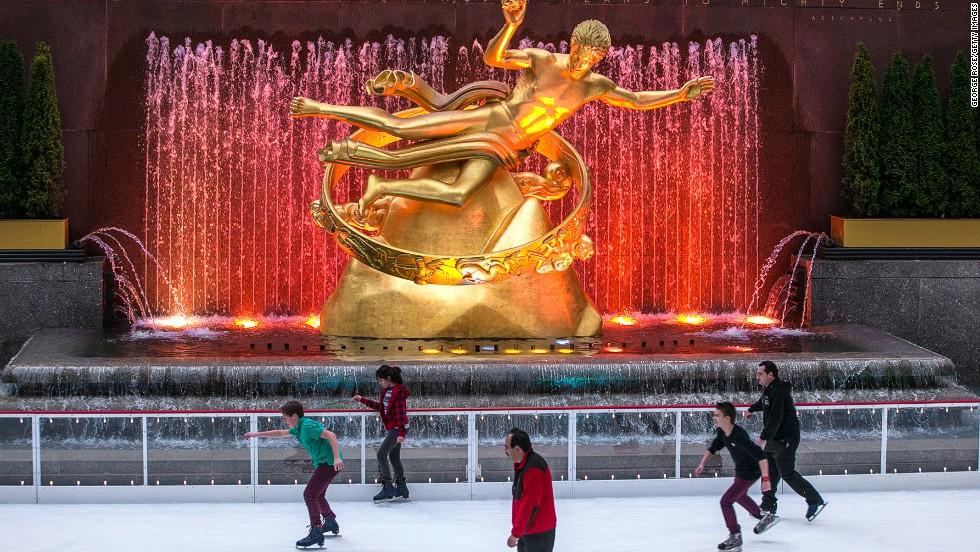 La pista en el Rockefeller Center (Nueva York)