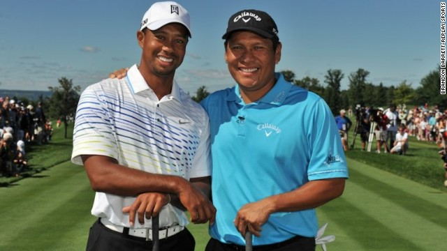 Notah Begay welcomed Tiger Woods to the 2012 edition of his charity golf tournament.