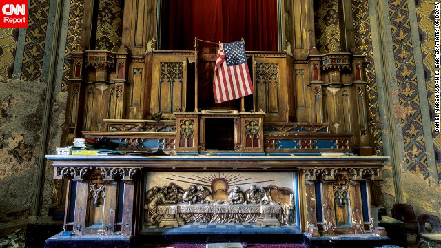 "The cover photo for ""States of Decay,"" a photo book by Daniel Barter and Daniel Marbaix, was shot in a cathedral in Pennsylvania during their photographic exploration of the northeastern United States."