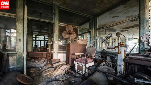 Each room and hall of this defunct sanitarium in New York was ripe for exploration, the photographers say.