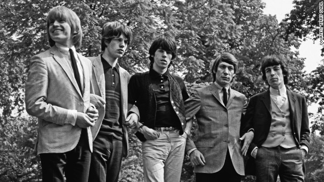 """Brian Jones (left) felt threatened because he had control of the Rolling Stones until I came along,"" remembers Oldham. ""In any band there's a group leader until there's a manager."""