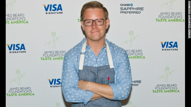 "Blais plays host at the James Beard Foundation's ""Taste America: Local Flavor From Coast to Coast"" benefit dinner in September in Chicago."