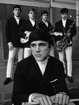 The Dave Clark Five photographed in the summer of 1963. The band became so popular that U.S. president Lyndon B. Johnson frogmarched them up the steps of Air Force One -- so <i>he</i> could get <i>their</i> autographs.