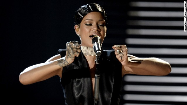 "It's hard to think of a year when Rihanna <i>isn't </i>cranking out hit after hit. This year she led the way with singles such as ""Stay"" and ""Pour It Up,"" not to mention her collaboration with Eminem, ""Monster."""