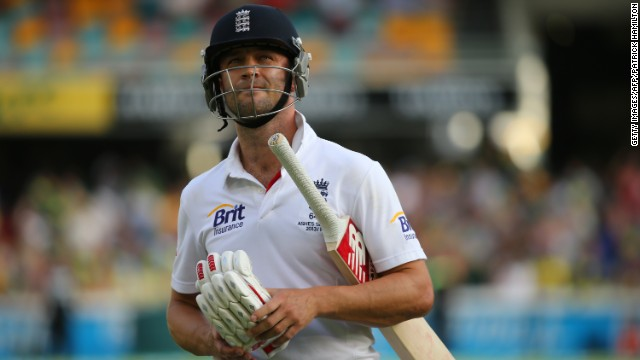 Trott scored 19 runs in two innings during England's first test defeat by Australia.
