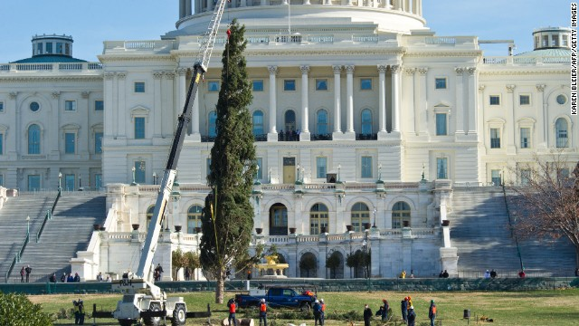 U.S. Capitol Christmas Tree arrives at the West Front