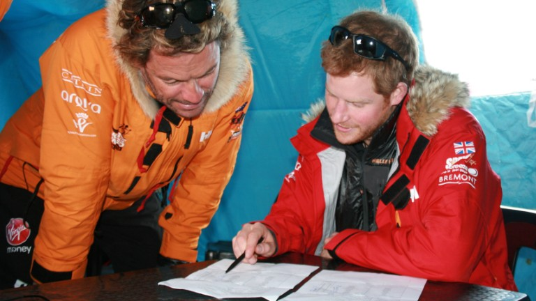 Prince Harry reaches the South Pole...